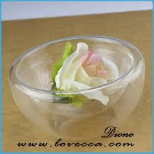 clear glass flat terrarium ornaments hanging teardrop shaped