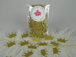 crown centerpieces gold crown confetti gold party decoration gold glitter gold