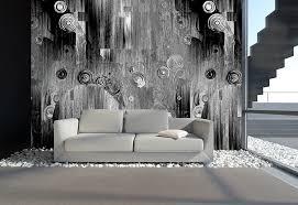 wandgestaltung grau designtapeten in silber grau schwarz weiß