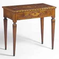 a north italian neoclassical walnut and marquetry side table late