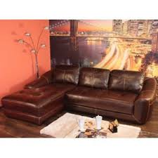 canapé d angle cuir marron habitat et jardin canapé d angle cuir tess 6 8 places marron