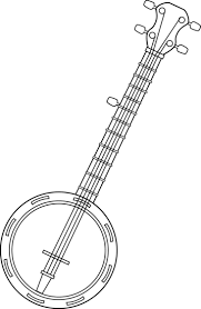 guitar coloring pages to print banjo coloring pages print google search musical instruments