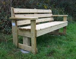 Raised Garden Bed With Bench Seating Garden Furniture Made From Decking Garden Bench Made From Decking