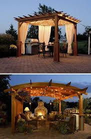 Outdoor Gazebo With Curtains Stunning Outdoor Entertainment Set Ups Create Your Own With A