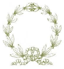 white laurel wreath outline clipart clip art library