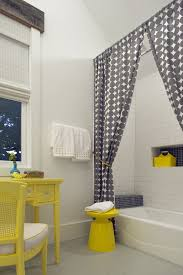 sheer shower curtain bathroom contemporary with white counter door