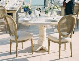 White Wash Table And Chairs Vineyard White Wash Table With Pedestal Town U0026 Country Event Rentals