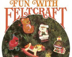 vintage felt christmas ornament patterns etsy