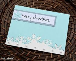 handmade christmas card tutorial crafts unleashed