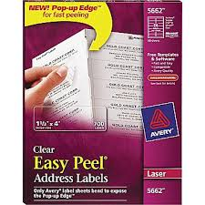 Avery 60 Labels Per Sheet Template Avery Clear Laser Address Labels With Easy Peel Staples