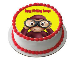 curious george cake topper curious george 2 edible birthday cake and cupcake topper edible