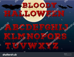 halloween bloody alphabet vector illustration stock vector
