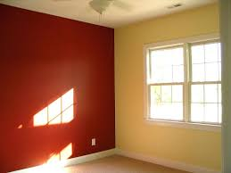 Maroon Wall Paint Painting A Bedroom Two Different Colors Paintingbedroom Two