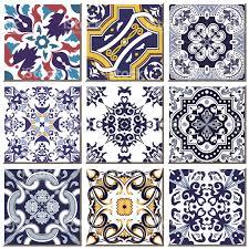 vintage retro ceramic tile pattern set collection 031 stock vector
