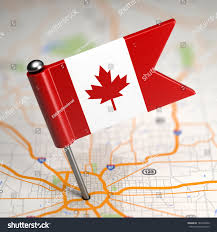 Canada On A Map by Small Flag Canada On Map Background Stock Illustration 187832846