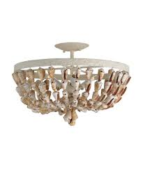 currey and company 9898 waterside 18 inch wide semi flush mount