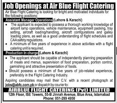 catering assistant jobs assistant manager operations job air blue flight catering job