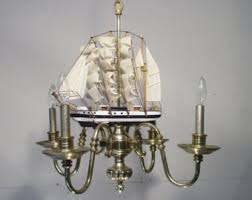 Ship Light Fixture Antique Vintage Chandelier 8 Light Mermaids Fixture