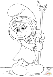 smurfwillow from smurfs the lost village coloring page free