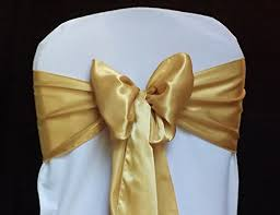gold chair sashes mds pack of 50 satin chair sashes bow sash for wedding
