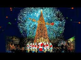 scenes from the christmas tree lighting ceremony at the grove los