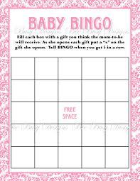 baby shower gift bingo baby bingo template madinbelgrade