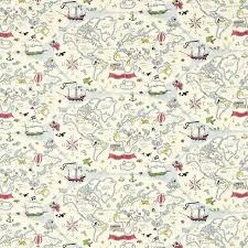 Map Wrapping Paper Sanderson Fabrics Treasure Map Dlit223913