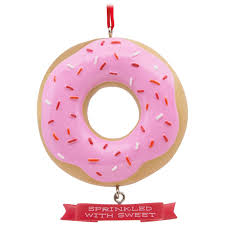sprinkled with sweet donut hallmark ornament gift ornaments