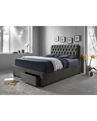 Tufted Bed With Storage Incredible Deal On Furniture World Diego Upholstered Bed With