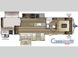 Rear Kitchen Rv Floor Plans by New 2017 Keystone Rv Cougar X Lite 34tsb Travel Trailer At
