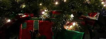 christmas decoration at home christmas presents and tree background ne wall