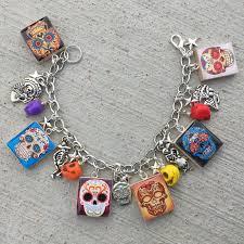 skull bracelet charm images Sugar skulls jewelry day of the dead charm bracelet islandgirlz jpg