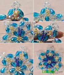 how do you make a blue glass beaded flower bracelet for girls from