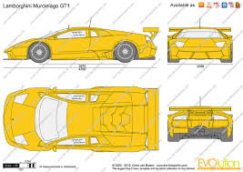 lamborghini murcielago dimensions the blueprints com vector drawing lamborghini murcielago gt1