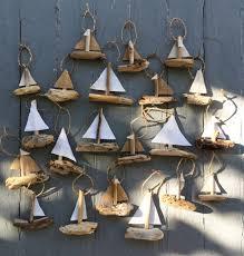 hanging sailboat mini s driftwood ornament rustic
