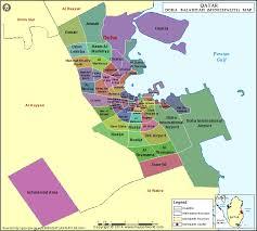 doha qatar map province map qatar