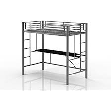 Metal Bunk Bed With Desk Amazon Com Coaster Home Furnishings Contemporary Bunk Bed Black