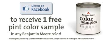 free sample pint of benjamin moore paint facebook offer money