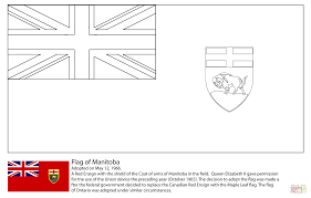 flag of manitoba coloring page free printable coloring pages