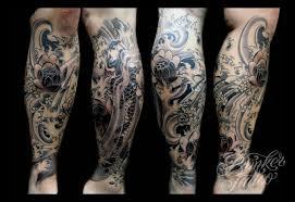 sick calf design calf tattoos