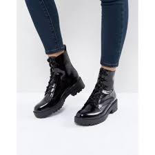 s boots lace lace up chunky heel boot black s boots usjdgnr