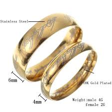 steel finger rings images 18k gold plated lord of the rings stainless steel lotr finger ring jpeg