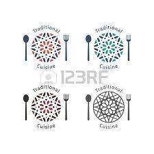 asian food logo template vector ethnic ornamental design for