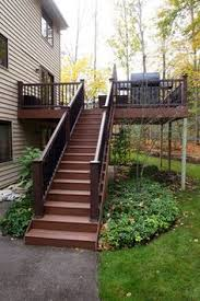 Corner Deck Stairs Design Deck Idea For Second Story The Corner Balusters And