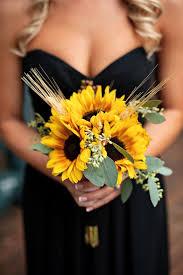 wedding flowers sunflowers sunflower wedding bouquets summer and fall weddings