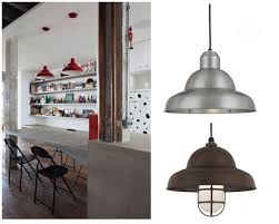 Red Kitchen Lights by Kitchen Pendants Compliment This Industrial Dining Room Blog