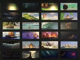 image moana color script panels jpg disney wiki fandom