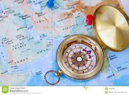 Middle Eastern Map Compass And Middle East Map Stock Photo Image 29700630