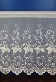 margaret white embroidered voile cafe net curtains woodyatt curtains
