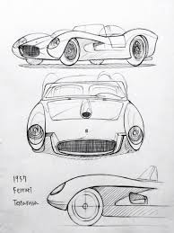 ferrari drawing car drawing 151202 1957 ferrari testarossa prisma on paper kim